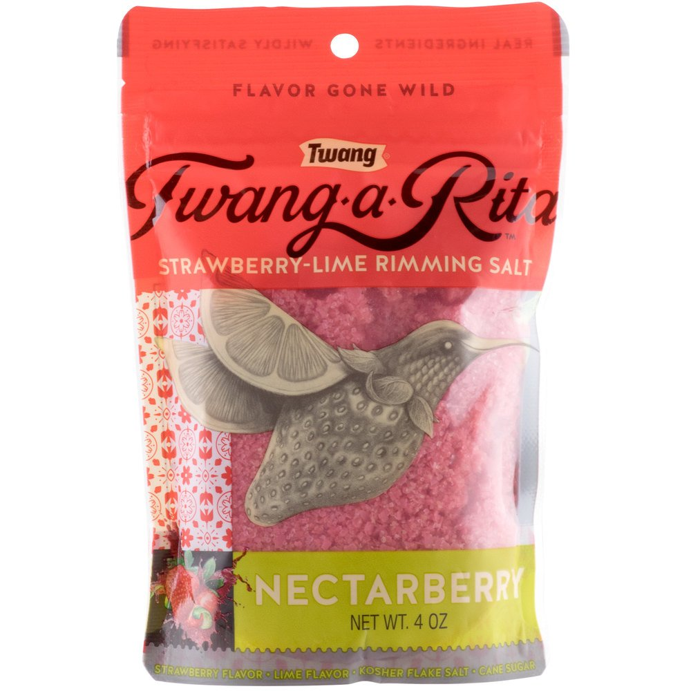 Twang Nectarberry Strawberry Rimming Salt - 4 oz. Pack of 10