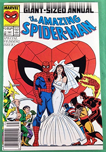 Amazing Spider-Man Annual (1987) 21 NM (9.4) wedding issue newsstand edition