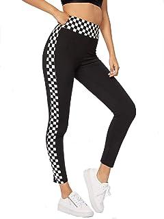 0325b6e0 Amazon.com: SheIn Women's Casual Checkered Long Sleeve Zip up Top ...