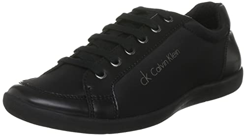 Calvin Klein Men's CASH NYLON/SHINY CALF Low-Top Sneakers