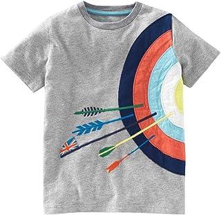 Skryo ❤️Toddler Kids Baby Boys Girls Clothes Short Sleeve Cartoon Tops T-Shirt Blous