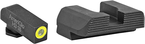 AmeriGlo Protector Front Rear Fits Glock 42 and 43 Sight, Green