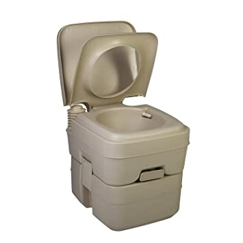 Camping Toilet by Zimmer - 5 Gallon Portable Toilet - Small