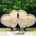 NEAMON 80pcs Hearts Herat Shaped Unique Wedding Guest Book Cool Wedding Decoration Rustic Wedding centerpieces idea