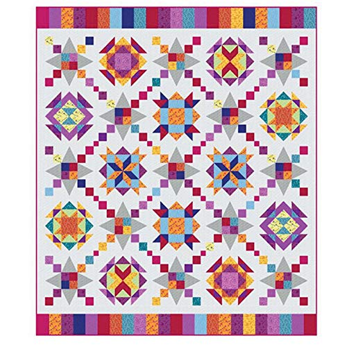 Marcus Designer Duo Sarah J Maxwell Bring on The Bubbly Kaleidoscope Quilt Kit 69 by 79 inches