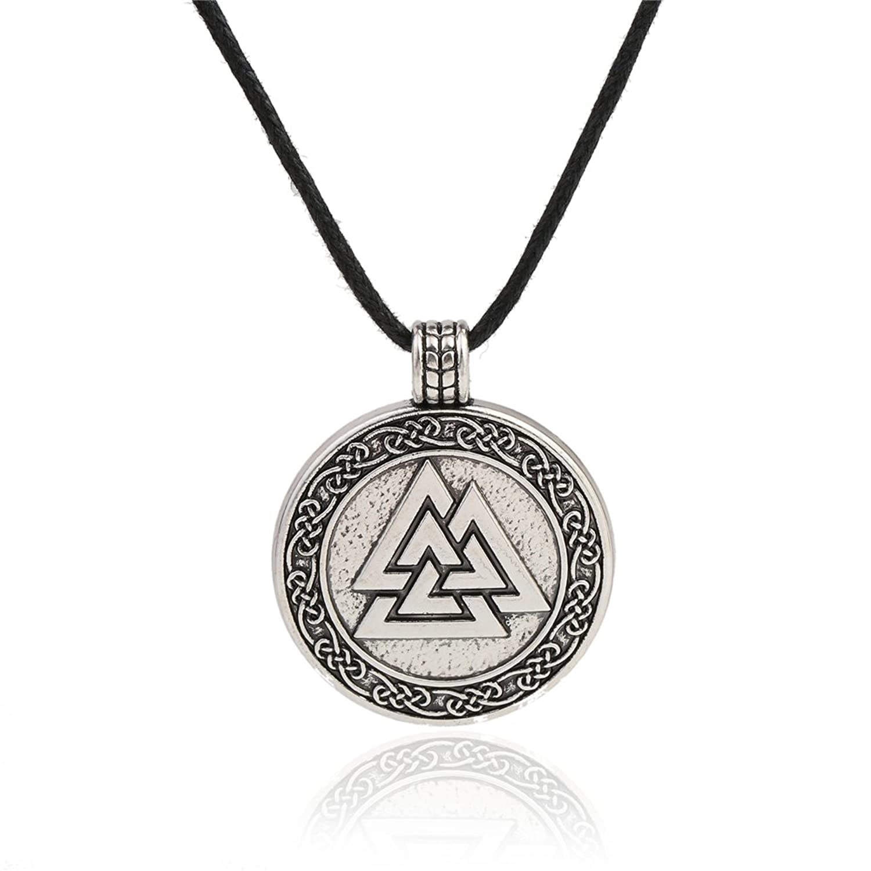 Valknut Viking Pendant Necklace Scandinavian Symbol Norse Viking Warrior Jewelry