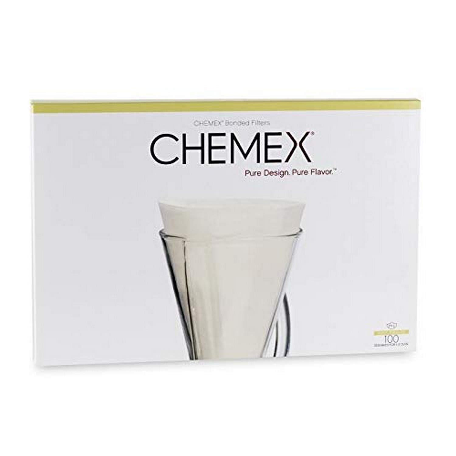 Chemex Bonded Filters, Unfolded, Half Moon, 100 Count 61kNDYU3T0L