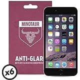 Apple iPhone 6 Plus/6S Plus Screen Protector Pack, Matte Anti Glare by Minotaur (6 Screen Protectors)