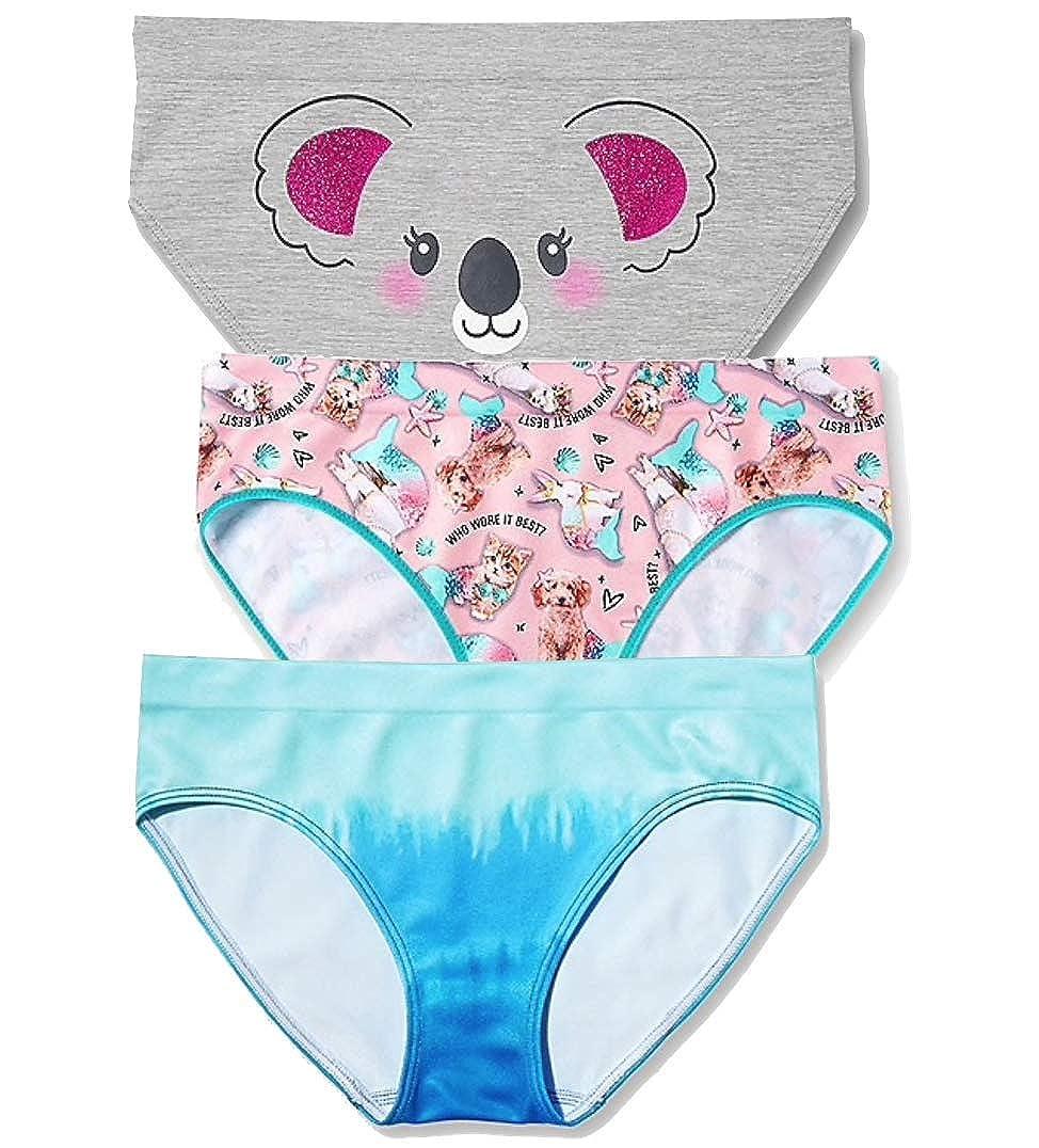 Justice Girls Seamless Bikini Panty Bundle of 3-Count Size 12//14