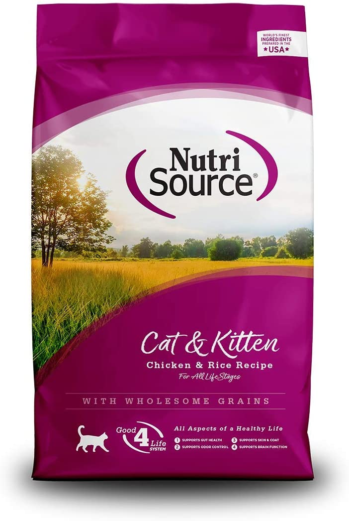 Nutrisource Chicken And Rice Formula Dry Cat Food