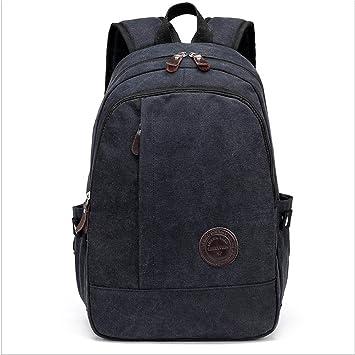 Resistencia al desgaste sísmico Ordenador portátil Mochilas 12 pulgadas Hombres Backpack Ligero para Colegio/ Cuaderno/ Computadora Daypack , black: ...
