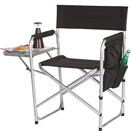 Incroyable Picnic Plus Directors Sport Chair With Folding Side Table U0026 Side Panel  Pockets