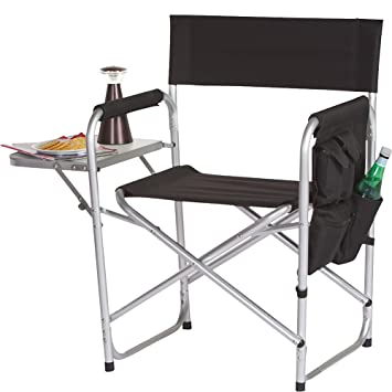 Picnic Plus Directors Sport Chair With Folding Side Table U0026 Side Panel  Pockets