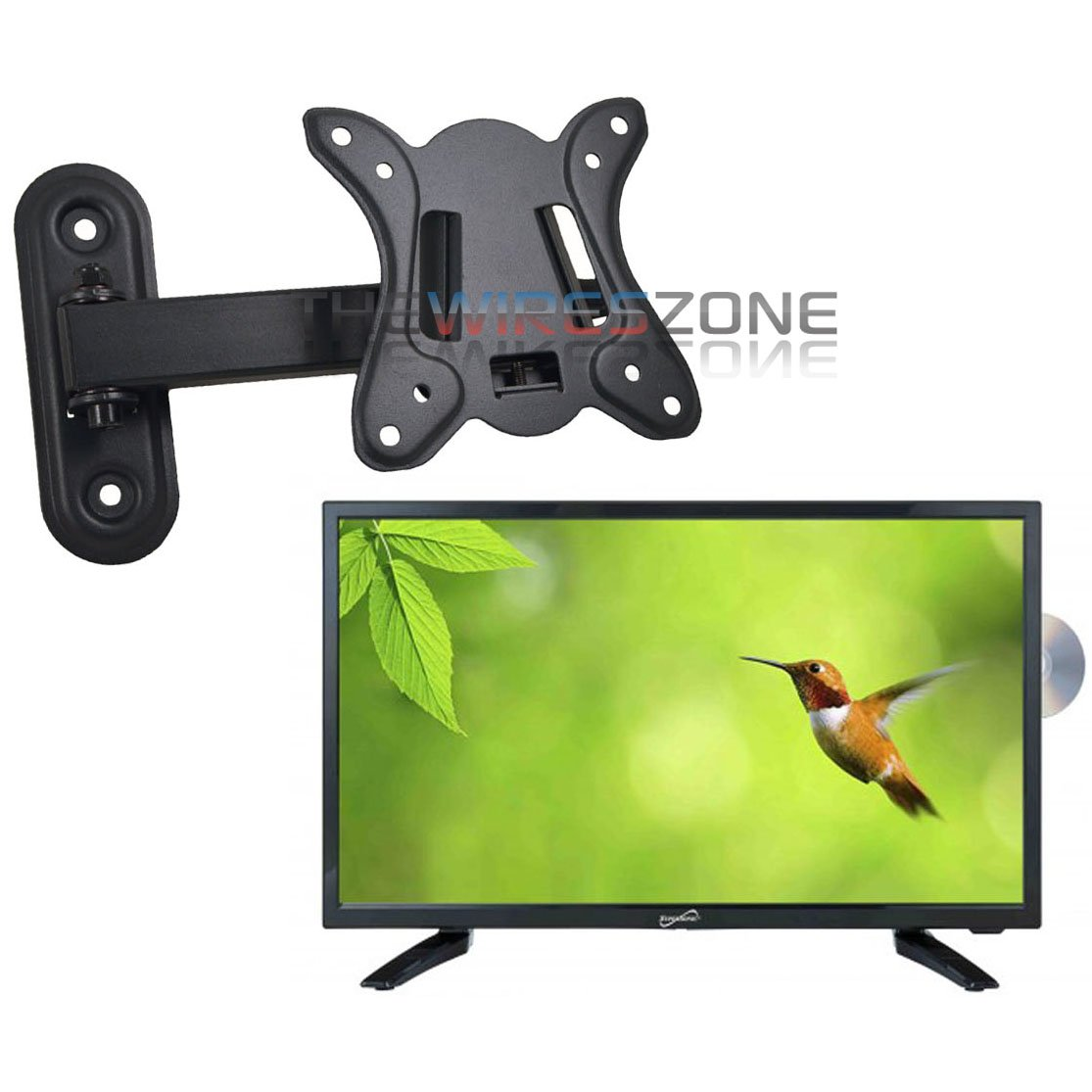 Supersonic SC-1912 19'' LED HDMI AC/DC Widescreen HDTV with DVD Player + Wall Mount by Supersonic