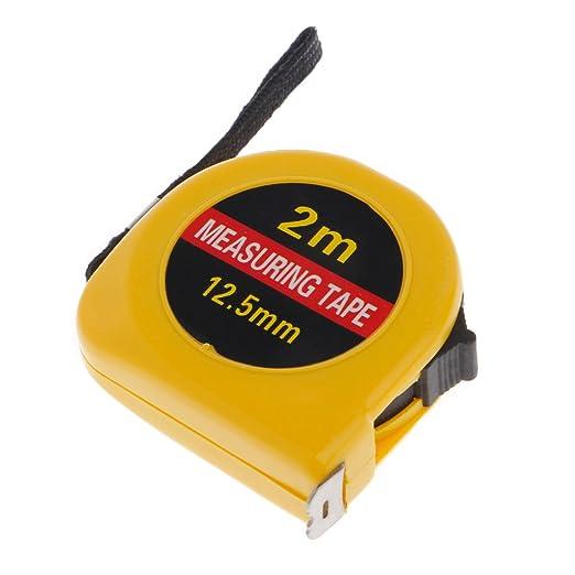 para construcci/ón Regla de cinta m/étrica retr/áctil de 2 m con mini bolsillo bricolaje garaje Qianqian56
