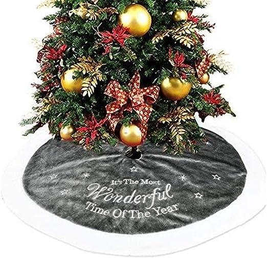 Lixinke Decoraciones de Fiesta de Navidad Falda de árbol de ...