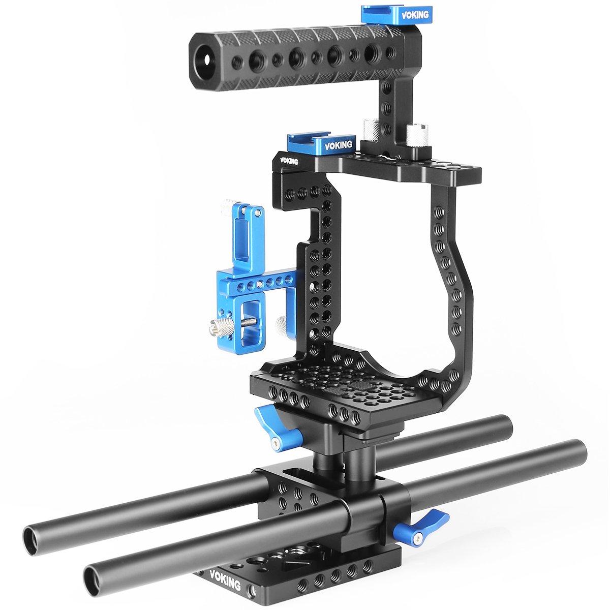 Voking VK GH5B - Kit de jaula de vídeo para cámara Lumix GH5 ...