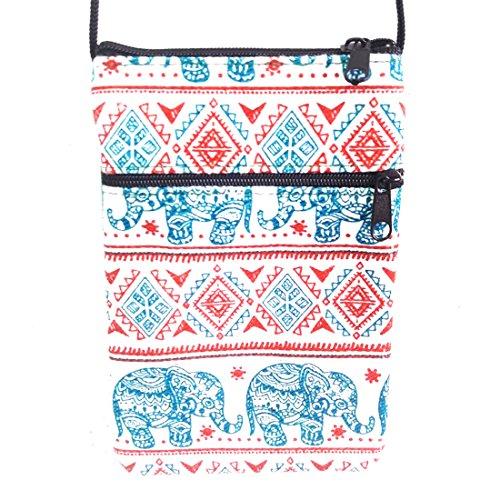 Hill EB3 Green Bag Red Tribe Elephant Hippy Thai Hmong Crossbody xqZI0nR