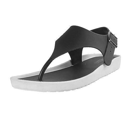 Buy Metro Women Black Monsoon Sandals