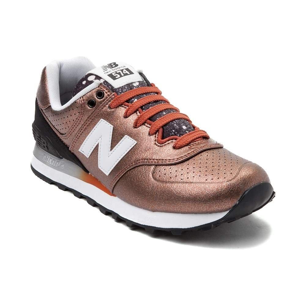 New Balance Women's WL574 CORE Plus-W Lifestyle Sneaker B01MZ6NGHH 5 M US Black White 1493