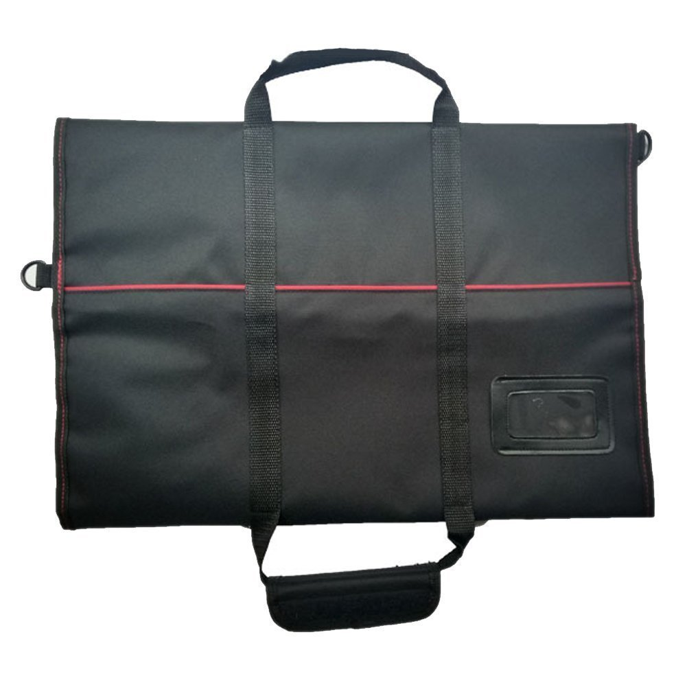 Waterproof Chef's Knife Roll Bag Multi Purpose Canvas Knife Roll Bag Pouch with Handle Strap HGJ03-R-US by Hersent (Image #3)