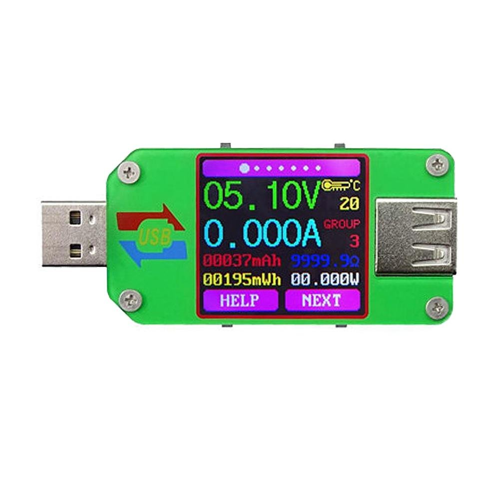 LCD Display Tester UM24C USB 2.0 Color Voltage Current Meter Voltmeter Amperimetro Battery Charge Cable Resistance