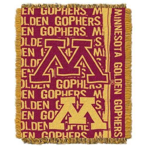 The Northwest Company Officially Licensed NCAA Minnesota Gophers Double Play Jacquard Throw Blanket, 48