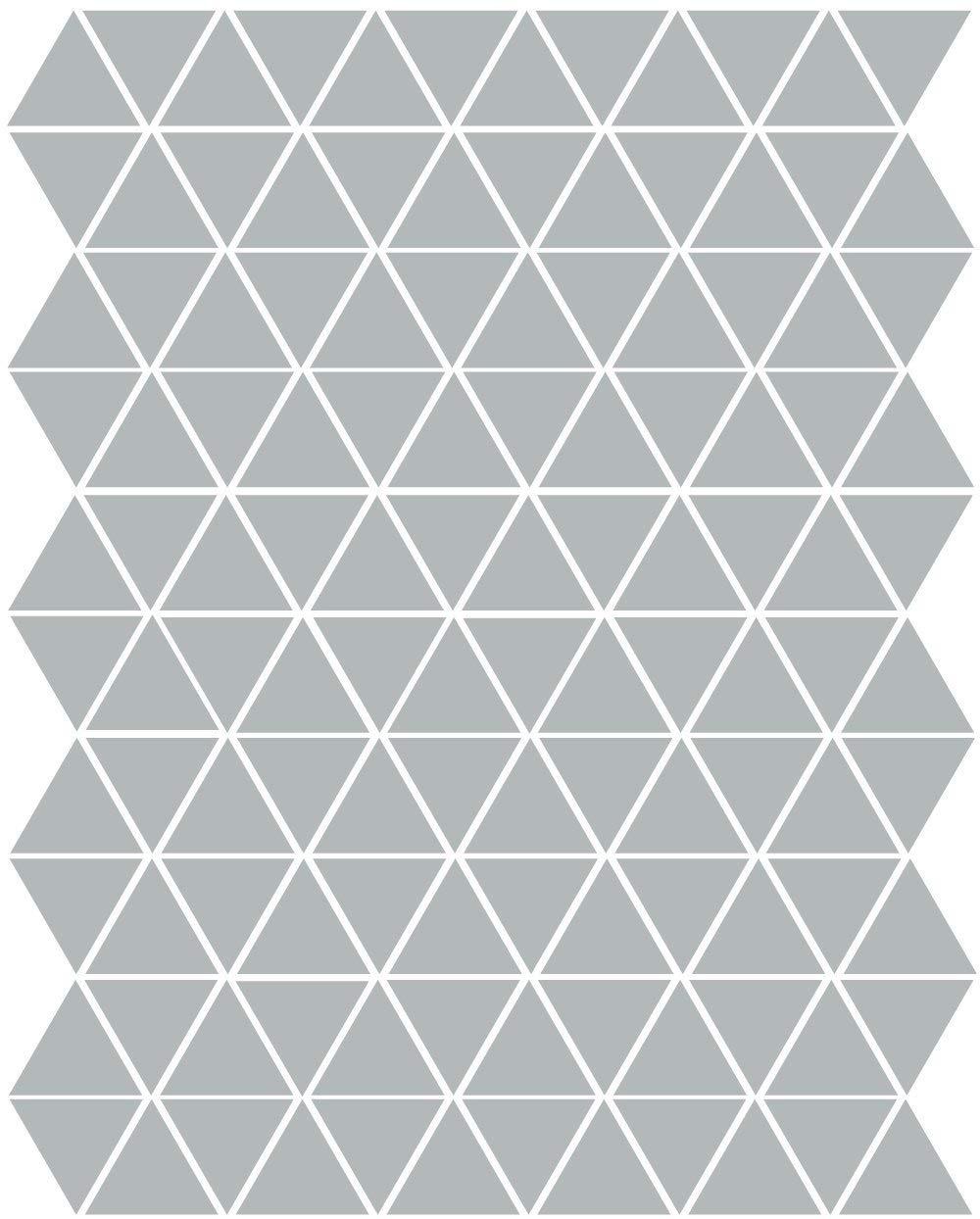 Triangle Wall Stickers Vinyl Wall Decals 120 Mini Triangle Wall Decals in Gold Silver or Color Vinyl