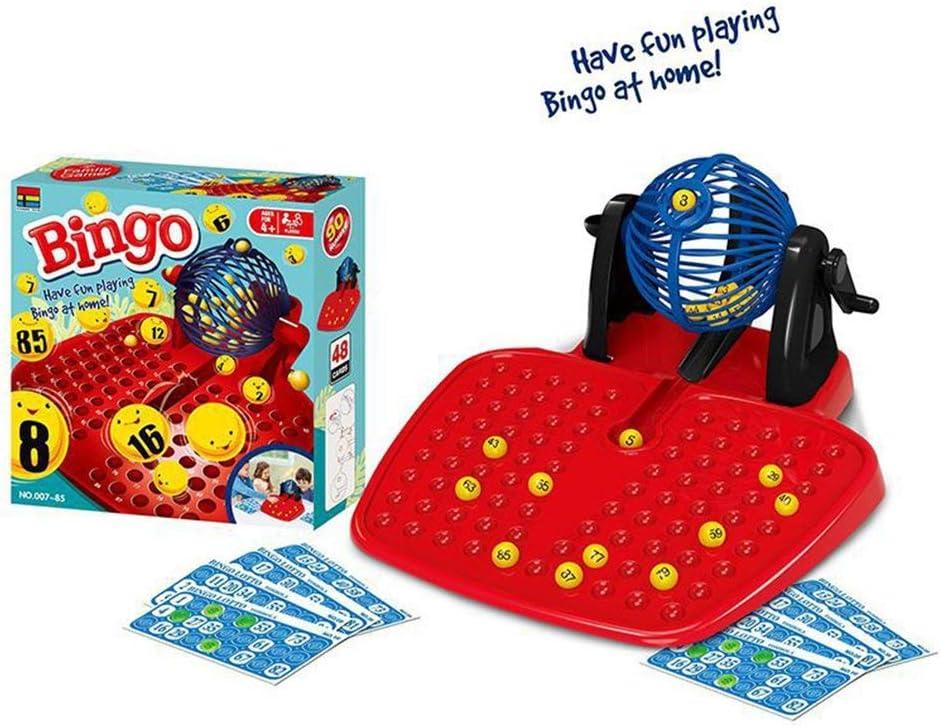 SWEEPID Bingo Tumbler Lotto - Juego familiar de 90 pelotas numeradas (48 cartas): Amazon.es: Hogar