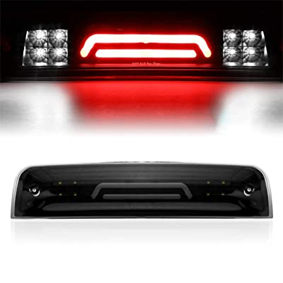 BA-BOLING 100% NEW 3D LED 3rd Third Tail Brake Light Rear Cargo Lamp for 2009-2020 Dodge Ram 1500/2010-2020 Dodge Ram 2500 3500 Super Bright High Mount Cargo Lamp (Smoke Lens),: Automotive