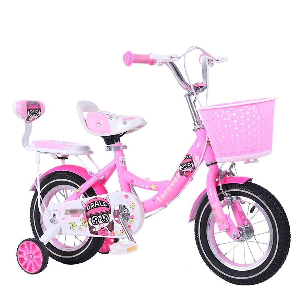 ピンクガールベビーベビーカーキッズバイク12 14 16 18インチ子供用自転車2-10歳のサイクリング B07DWP5MHZ14 inch