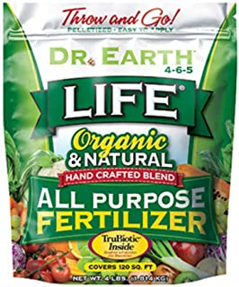 product image for Dr. Earth 736P Life Organic All Purpose Fertilizer In Poly Bag, 4-Pound