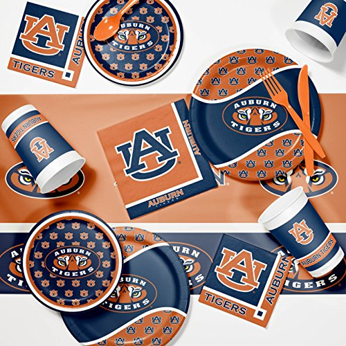 NCAA Auburn University Game Day Party Supplies Kit, Serves 8