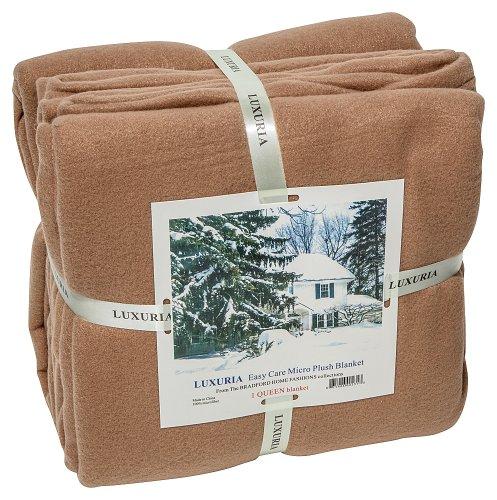 Tan Plush (LUXURIA Micro Plush KING Blanket , CAMEL)