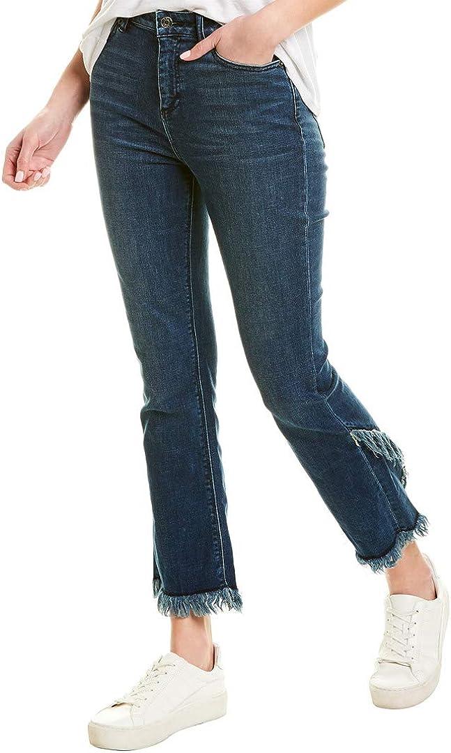 1.State Women's Five-Pocket Tulip Hem Skinny Jeans in Meadow Wash