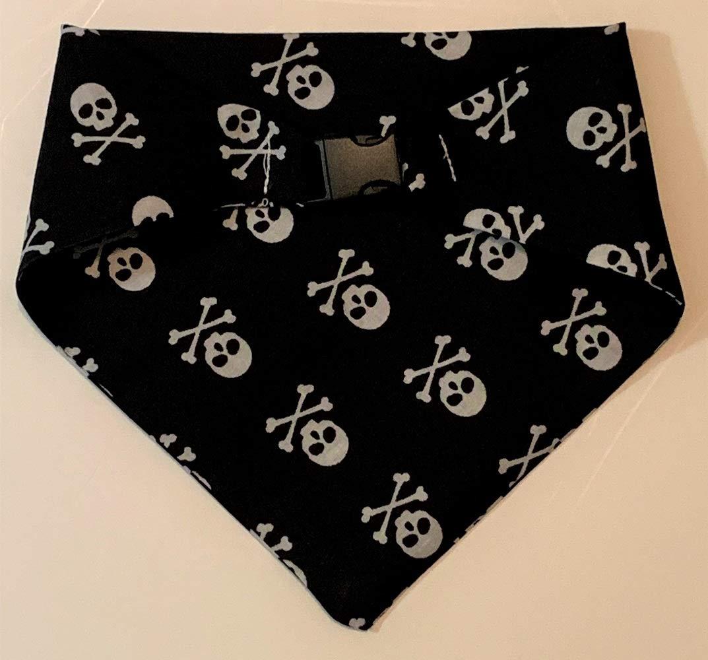 Skull and Cross Bones Pet Bandana Medium