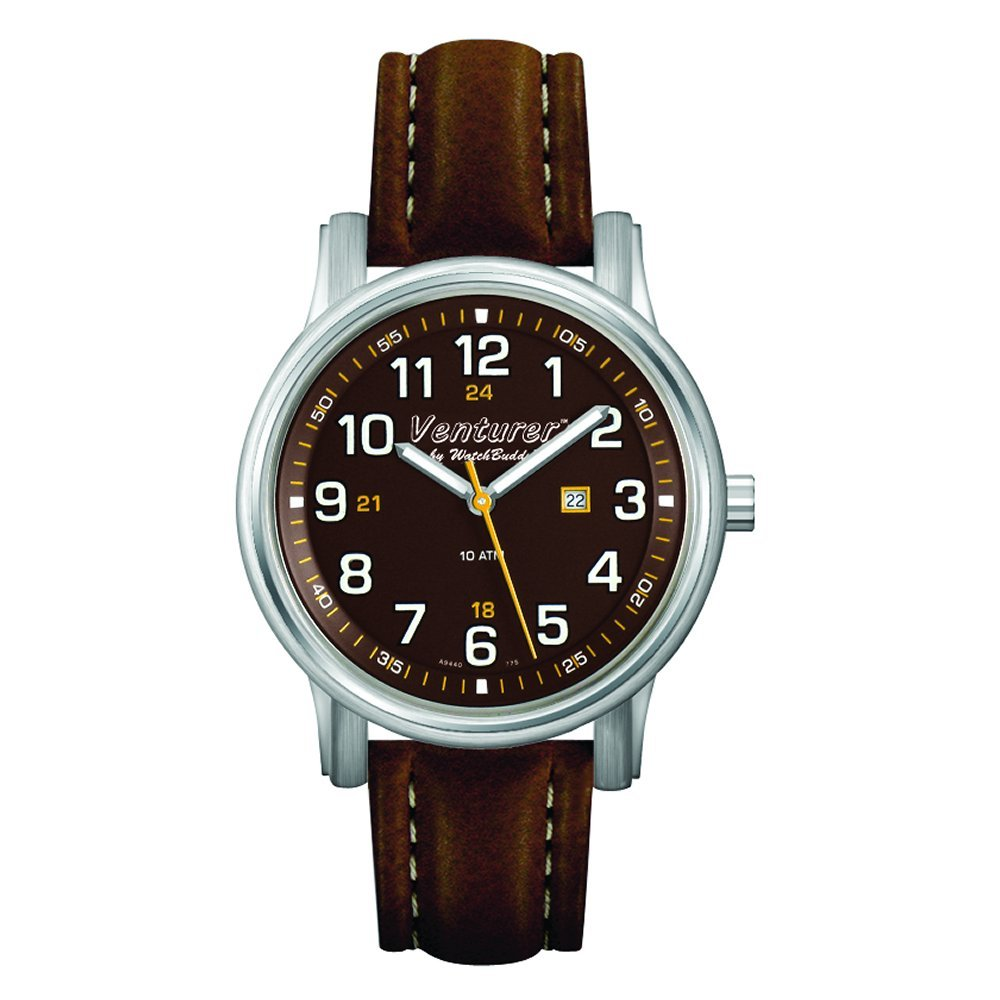 Venturer Sports Watch by WatchBuddy - Outback Brown with Brown Leather Strap - Men's Size