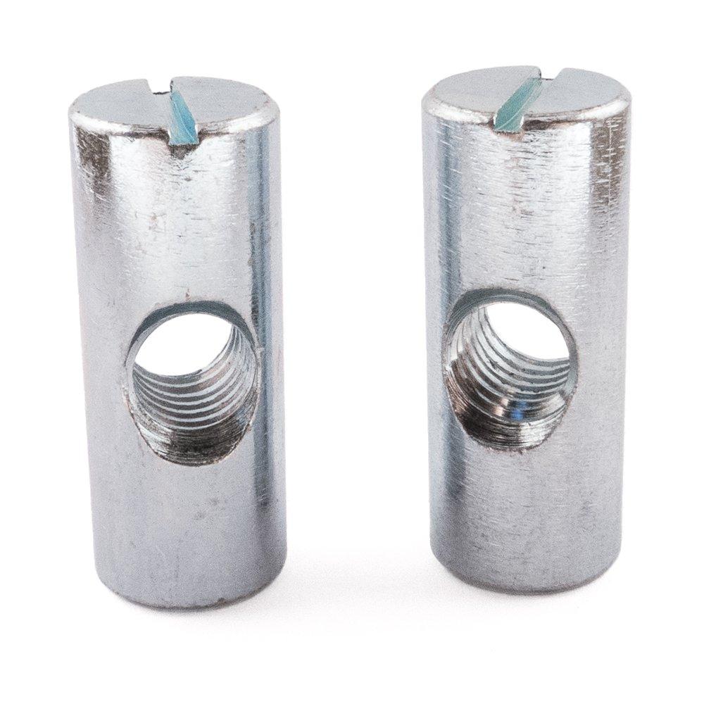 Cruz Dowel Barril Tuercas, zinc, agujero de centro, M8 x 30, pack de 20 M8x 30 SD Products Ltd CDZP0110-20