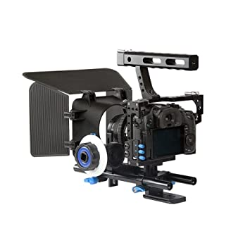 Profesional DSLR Rig Cámara Jaula/Follow Focus/caja mate Bundle ...