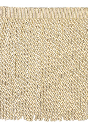 (DÉCOPRO 5 Yard Value Pack - 9 Inch Long Ivory/Ecru Bullion Fringe Trim, Basic Trim Collection, BFS9 Color: A2 (15 Ft / 4.5 Meters))