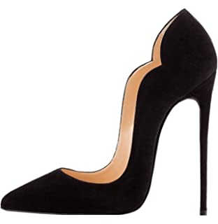 e71acdd865 elashe Scarpe Decolte Donna - 12CM Scarpe col Tacco Pointed Toe ...