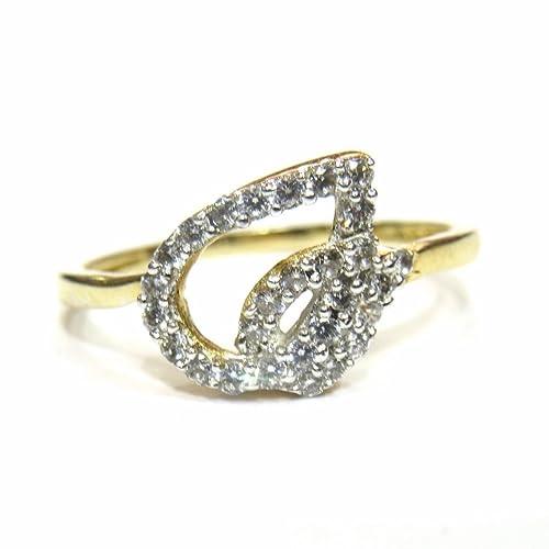 00336101e4a5 jewelshingar joyas American Diamante Anillo en color dorado para mujeres  (22520-ring-20