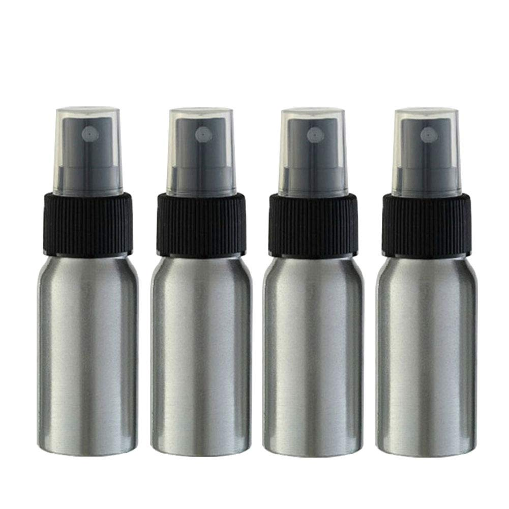【中古】 (Black Caps) - Furnido 30ml Aluminium Bottle Essential Cosmetic Oil Packaging Spray Bottle Refillable Perfume Fine Mist Atomiser Empty Beauty Replenishment Metal Spray Bottles Cosmetic Packaging Container travel subpackage Bottles 4-Pack (Black Caps) Black Caps B078TFPGXH, ZAZA STORE:797cf9f9 --- egreensolutions.ca