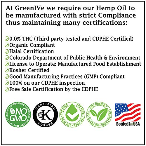 61kNNfGb3eL - GreenIVe - Hemp Oil 910,000mg - Anti-Inflammatory - Vegan Omegas - Cold Pressed - Exclusively on Amazon (32 Ounce)