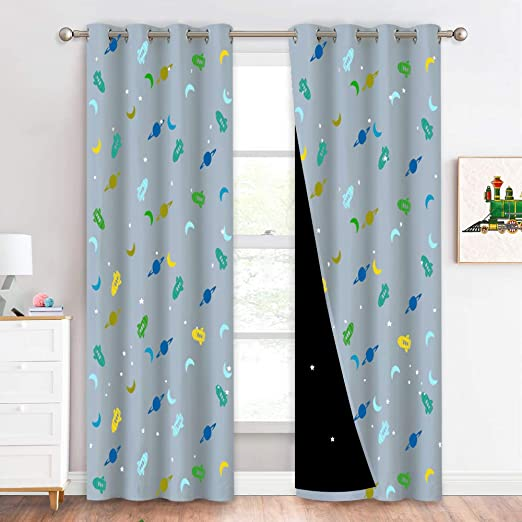made to measure childrens kids boys girls blackout lined curtains
