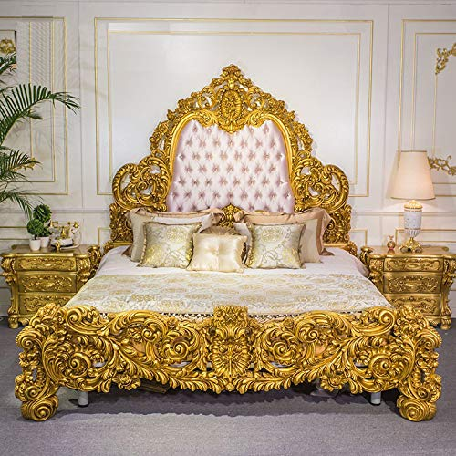 Craftatoz Jhadfunoos Teak Wood Bed Antique Style Luxury Bedroom Furniture:  Amazon.in: Home & Kitchen
