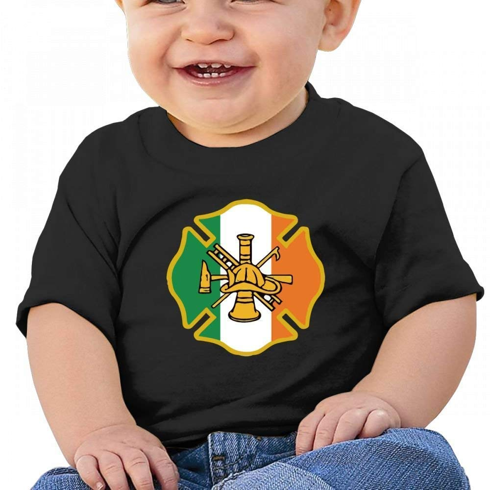 YXQMY Irish Firefighter Sign Kiss Me Baby Casual Round Neck T-Shirts Short eeve T