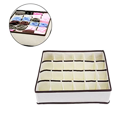 f4228c225e610 OrchidBest 24 Cell Foldable Dresser Drawer Organiser Space Saver Storage  Boxes Collapsible Closet Divider for Underwear