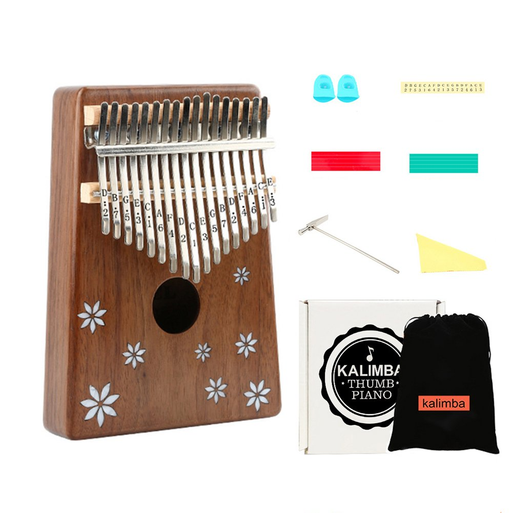 Thumb Piano 17 Keys/Kalimba 17 Key Finger Piano Acacia Wood Body Ore Metal Tines Professional Playing Musical Instruments Birthday Gifts and Holiday Gifts Suit for Music Lovers Beginners and Child