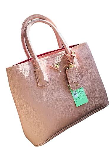 05aa52bb6cdc Prada Light Pink Handbag or Shoulder Bag With Belt  Amazon.in  Shoes    Handbags